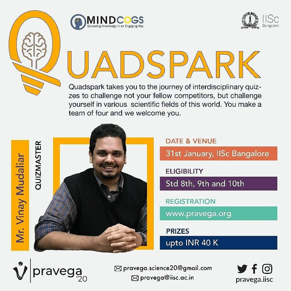 Indian Institute of Science 2020- Quadspark